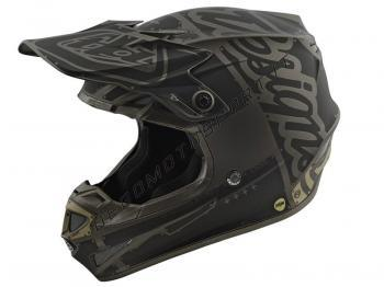 Casco cross Troy Lee Designs SE4 Polyacrylite Helmet factory gra