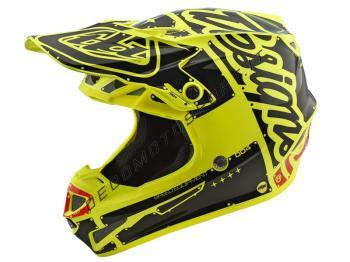 Casco cross Troy Lee Designs SE4 Polyacrylite Helmet factory yel