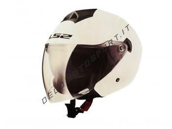 Casco Jet LS2 Twister Single Mono Gloss White