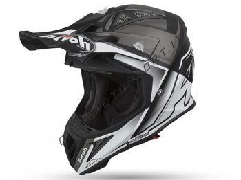 Casco motocross Airoh 2019 Aviator 2.2 Check White Matt