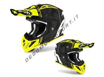 Casco Motocross Airoh 2020 Aviator Ace Kybon Yellow Matt