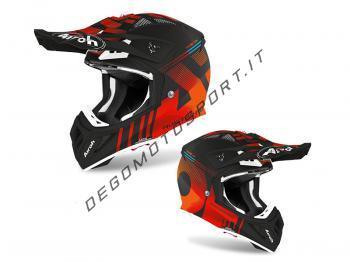Casco Motocross Airoh 2020 Aviator Ace Nemesi Orange Matt