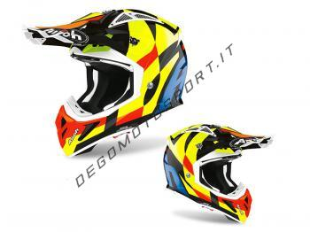 Casco Motocross Airoh 2020 Aviator Ace Trick Black Gloss