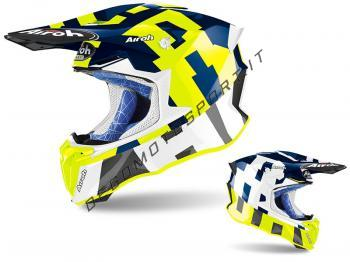 Casco Motocross Airoh 2020 Twist 2.0 Frame Blue Gloss