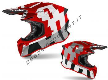 Casco Motocross Airoh 2020 Twist 2.0 Frame Red Matt