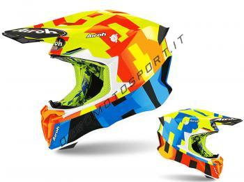 Casco Motocross Airoh 2020 Twist 2.0 Frame Yellow Gloss