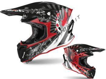 Casco Motocross Airoh 2020 Twist 2.0 Katana Red Gloss