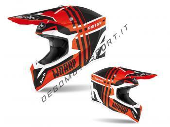 Casco Motocross Airoh 2020 Wraap Broken Orange Matt