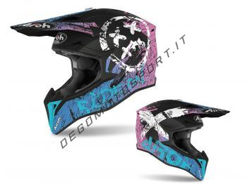 Casco Motocross Airoh 2020 Wraap Smile Violet Matt