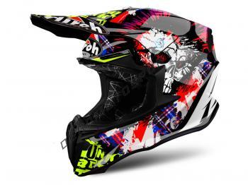Casco Motocross Airoh Twist 2019 Crazy Black Gloss