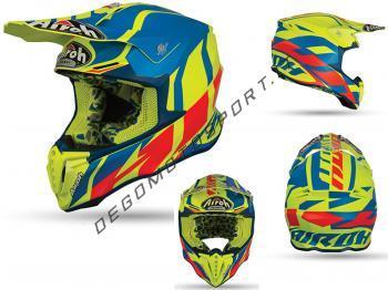 Casco Motocross Airoh Twist 2019 Great Azure Matt