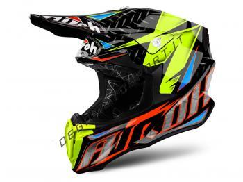 Casco Motocross Airoh Twist 2019 Iron Orange Gloss