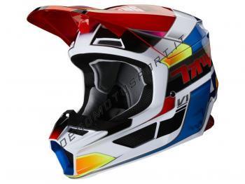 Casco Motocross Fox 2020 V1 Yorr Blue-Red