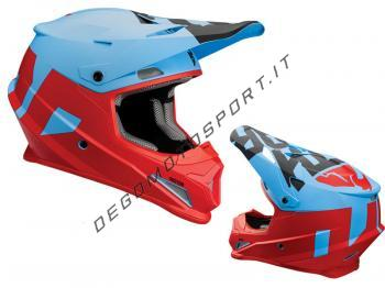 Casco Motocross Thor Sector Level Matte Blue Red