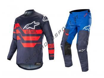 Completo motocross Alpinestars 2019 Racer Flagship Dark Navy Blu
