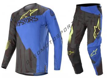 Completo Motocross Alpinestars 2020 Techstar Factory Black-Blue-