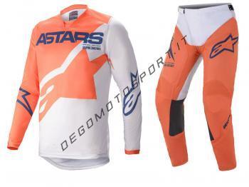 Completo Motocross Alpinestars 2021 Racer Braap Orange-Light Gra