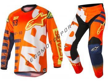 Completo Motocross Alpinestars Racer Braap Orange 2018