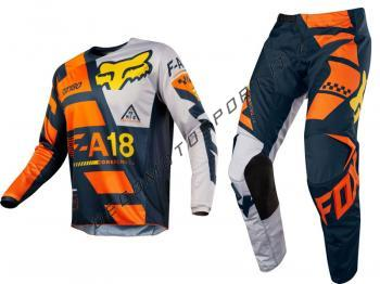 Completo Motocross Fox 2018 180 Sayak Orange