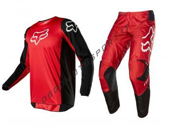 Completo Motocross Fox 2020 180 Prix Flame Red