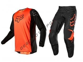 Completo Motocross Fox 2020 180 Prix Orange Fluo