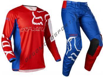 Completo Motocross Fox 2022 180 Skew - White Red Blue