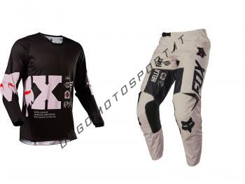 Completo motocross Fox Illmatik black-pale pink