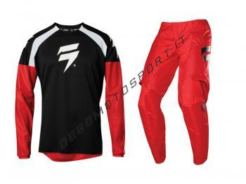 Completo Motocross Shift 2020 WHIT3 Label Race 1 Black-Red
