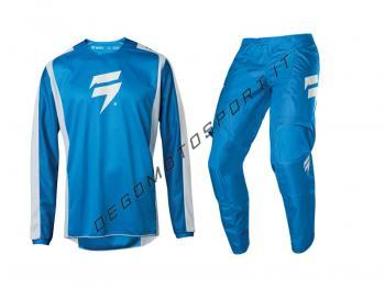 Completo Motocross Shift 2020 WHIT3 Label Race 2 Blue-White