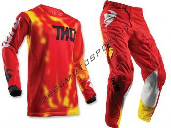 Completo Motocross Thor 2018 Pulse Air Radiate Red