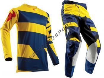 Completo Motocross Thor 2018 Pulse Level Navy Yellow
