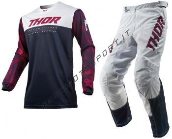 Completo motocross Thor 2019 Pulse Air Acid Midnight light gray