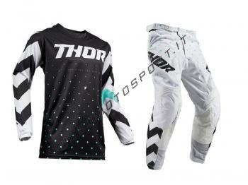 Completo motocross Thor 2019 Pulse Stunner Black-White