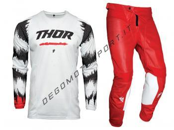 Completo Motocross Thor 2021 Pulse Air Rad White-Red