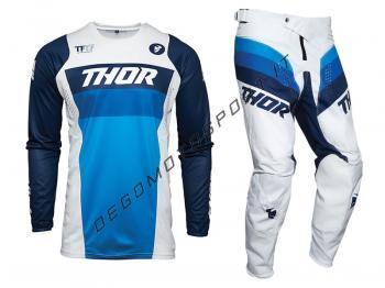 Completo Motocross Thor 2021 Pulse Racer White-Navy