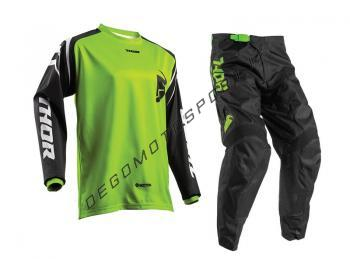 Completo Motocross Thor Bambino Pulse Lime black