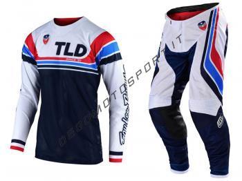 Completo Motocross Troy Lee Designs 2020 SE Air Seca White-Dark