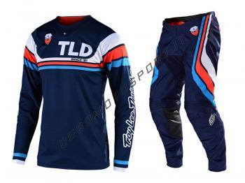 Completo Motocross Troy Lee Designs 2020 SE Seca Dark Navy-Orang