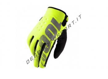 Guanti Motocross 100% Brisker Fluo yellow