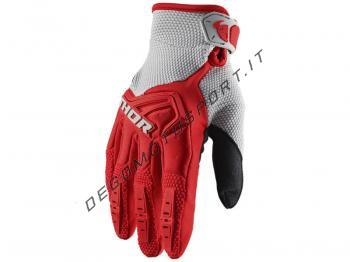 Guanti Motocross Thor 2020 Spectrum Red-Gray