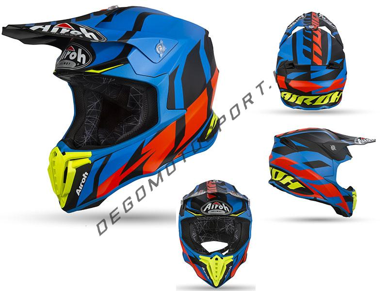 Casco Motocross Airoh Twist 2019 Great Blue Matt