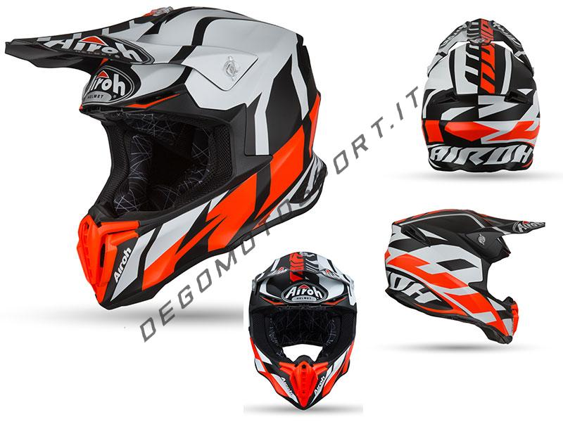 Casco Motocross Airoh Twist 2019 Great Orange Matt