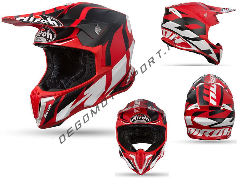 Casco Motocross Airoh Twist 2019 Great Red Matt