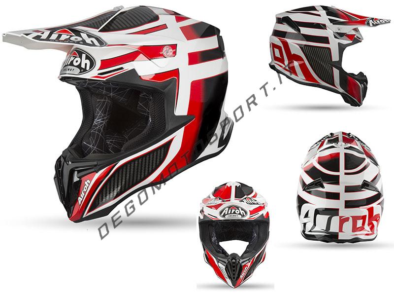Casco Motocross Airoh Twist 2019 Shading Red Gloss
