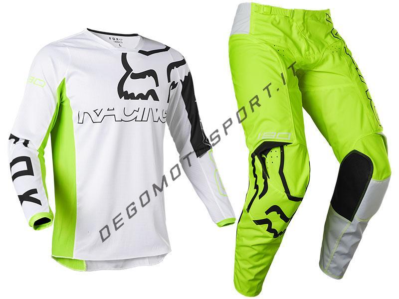 Completo Motocross Fox 2022 180 Skew - Fluorescent Yellow