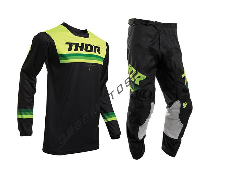 Completo Motocross Thor 2020 Pulse Pinner Black-Acid