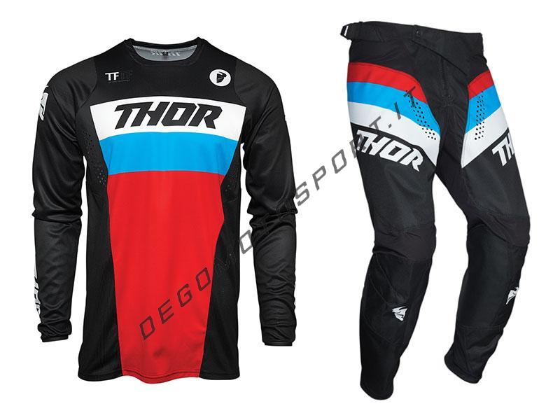 Completo Motocross Thor 2021 Pulse Racer Black-Red-Blue