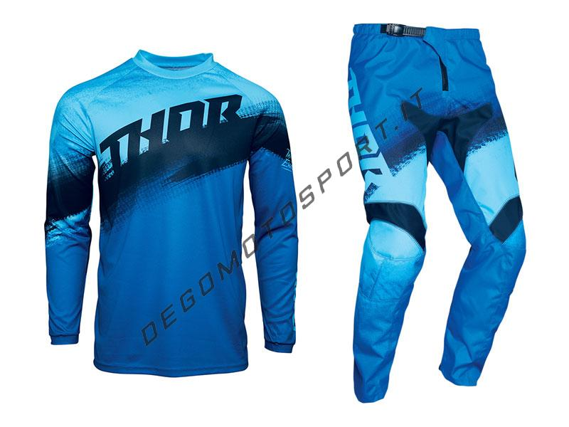 Completo Motocross Thor 2021 Sector Vapor Blue-Midnight