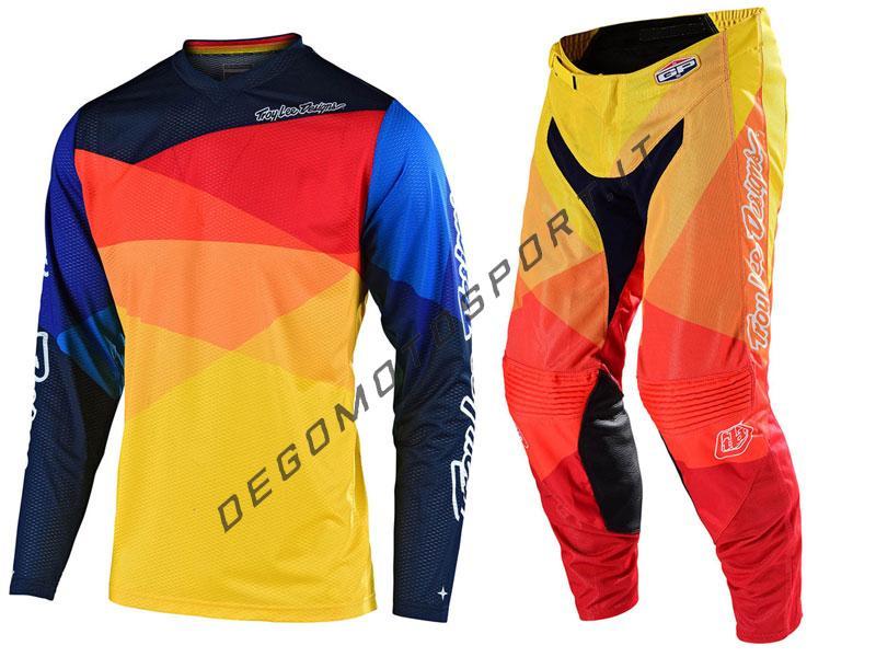 Completo Motocross Troy Lee Designs 2020 GP Air Jet Yellow-Orang
