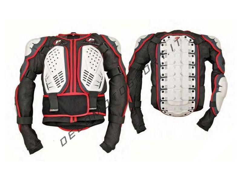 Pettorina Motocross Polisport Integrale Bianco Nero